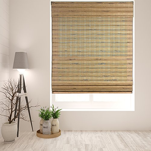- Arlo Blinds Cordless Tuscan Bamboo Roman Shades Blinds - Size: 34