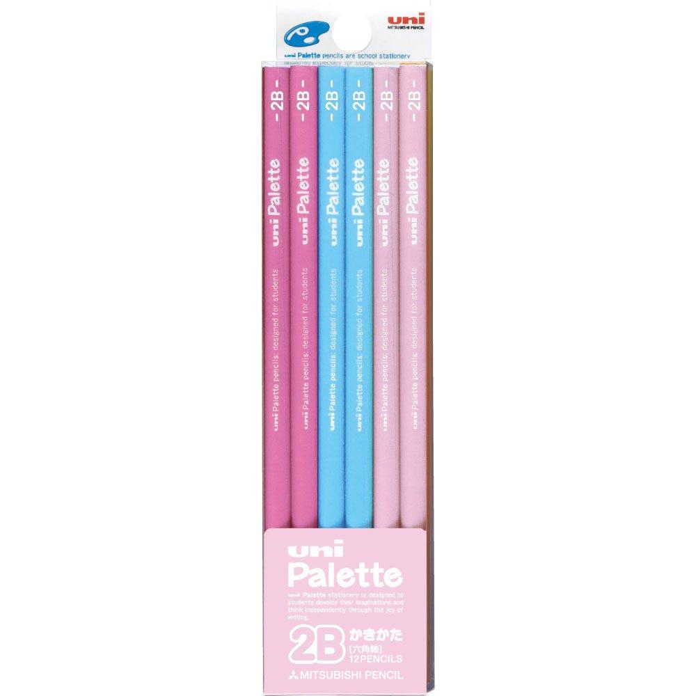 三菱鉛筆 ユニパレット ダース箱 6角