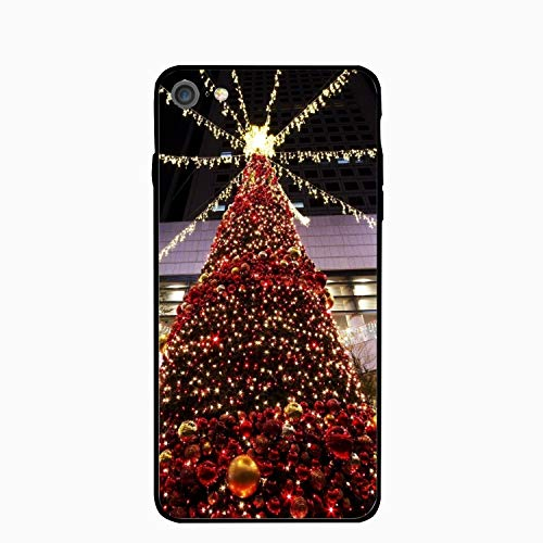 iPhone 6/6s Case,Personalized Christmas Tree Toys Shopping Center Hall Floral Print PC Cellphone Case for [4.7 inch]