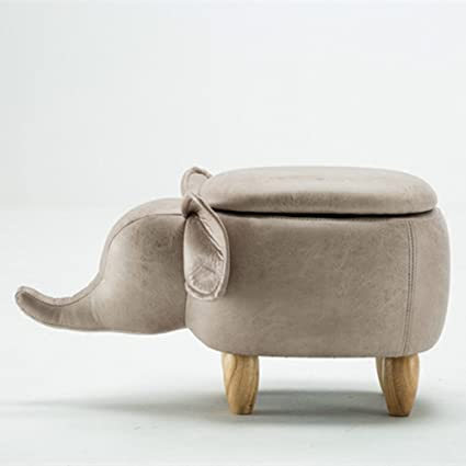 Taburete De Almacenamiento Elefante Creativo Taburete De Madera ...