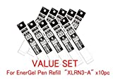 Pentel Refill Ink for EnerGel Liquid Gel Pen / 0.3mm Black Ink / Value Set of 10 Refills (With Our Shop Original Product Description)
