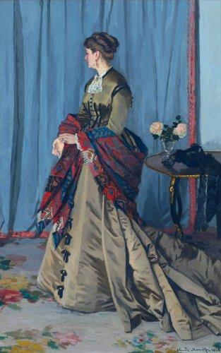 Artisoo Portrait Of Madame Gaudibert–サイズ: 30x 19インチ–Realism油彩画Reproduction–クロード・モネの商品画像