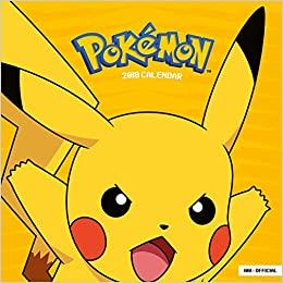 pokemon official 2018 calendar square wall format 9781785493768 amazoncom books