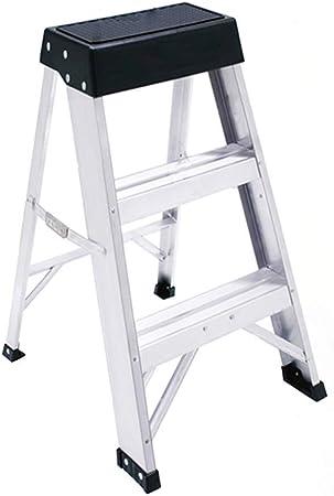 HOMRanger Escalera Multifunción Aleación de Aluminio Plegable Conjunto Completo Portátil Seguridad Ligera Ascender Hogar, Escalera de 3 peldaños de Doble Uso (Color: Blanco, Tamaño: 43x50x62cm): Amazon.es: Hogar