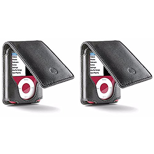 DLO Leather Folio Case with Belt Clip for iPod Nano 3rd Generation (3G) - Buy One, Get One Free