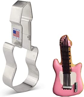 product image for Ann Clark Cookie Cutters Rock 'n Roll Instrument/Electric Guitar Cookie Cutter, 5.25""