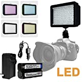 Julius Studio NEW 160 LED 160 Dimmable Ultra High Power Panel Digital Camera,LED Light for Canon, Nikon, Pentax, Panasonic, SONY, Samsung and Olympus Digital SLR Cameras,JGG2286