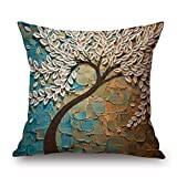 plant pillow shams 18 x 18 inches / 45 by 45 cm gift or decor for living room,kitchen,home,festival,girls,floor - twin sides