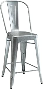 Coaster Home Furnishings Carone Upholstered Black and Chrome (Set of 4) Side Chair