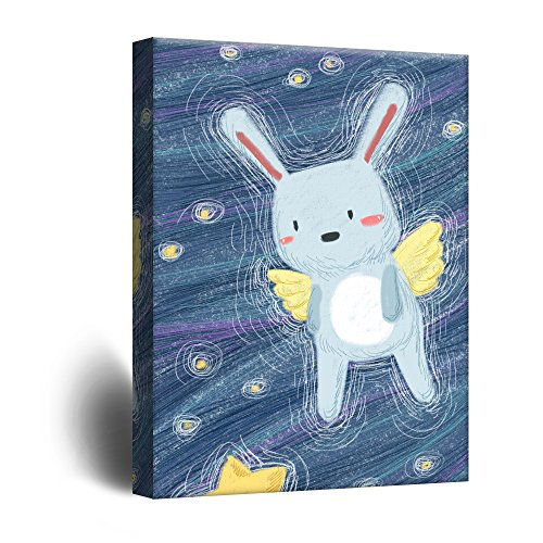 Cute Cartoon Animals A Rabbit Angel Kid