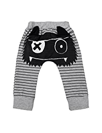 MIOIM Baby Boys Girls Harem Trousers Elastic Baggy Printed Pants Leggings