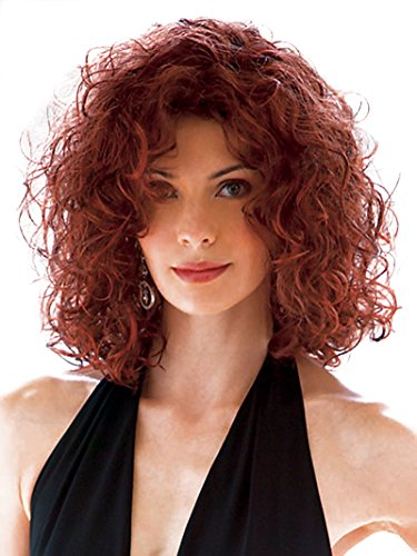 AmorWig Fashion Small Curly Shoulder Length Kinky Hair Wig for Women Party (Baby Maverick Costume)