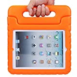 iPad 9.7 Inch 2017 / iPad Air 2 / iPad Air Case - Light Weight Kids Shockproof Case Super Protection Cover Handle Stand Case for Apple New iPad 9.7'' 2017 Model (Orange)