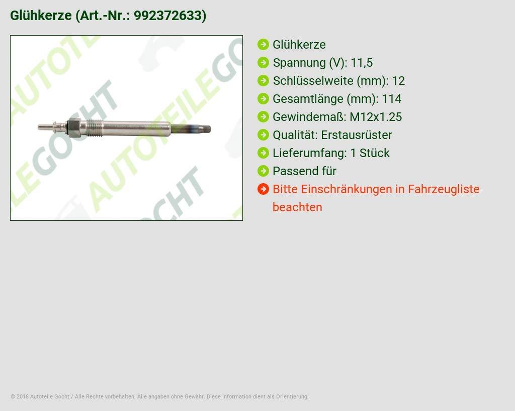 Bujía de precalentamiento para Mercedes Clase C W202 S202 Clase E W124 W210 S124 S210 CLASE G W463 Clase S: Amazon.es: Coche y moto