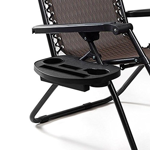 KINGZHUO Large Versatile Utility Tray Clip On Chair Table Tray-Upgraded Version Cup Holder for Chairs