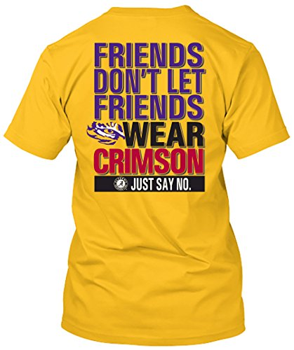 Mike The Tiger Lsu - NCAA Friends Don't Let Friends Wear T Shirts - Up to 2X and 3X (LSU Tigers, XX-Large)