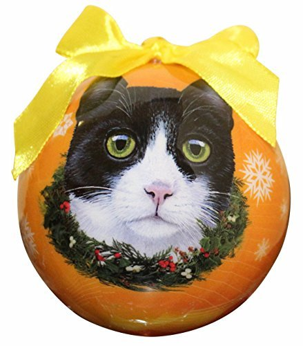 Black and White Cat Christmas Ornament Shatter Proof Ball Easy To Personalize A Perfect Gift For Cat Lovers 51v4Ga0bW6L