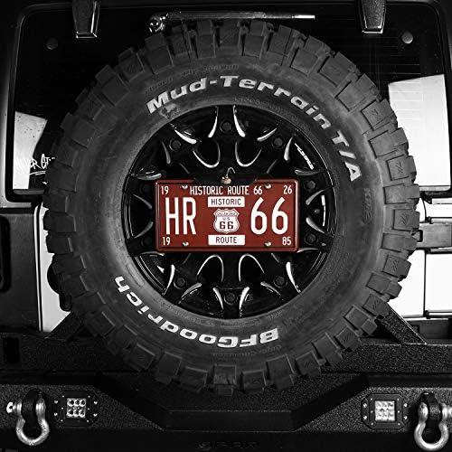 Jeep Wrangler TJ /& JK 97-18 u-Box Spare Tire License Plate Mounting System