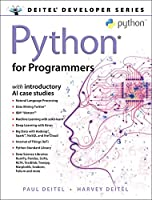 Python for Programmers: with Big Data and Artificial Intelligence Case Studies Front Cover