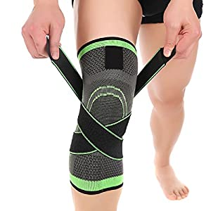 Knee Brace,Conlink Compression Support Knee Sleeve with Adjustable Strap Knee Pad for Pain Relief, Meniscus Tear, Arthritis, ACL, MCL,Suit for Running, Cycling, Tennis, Golf and Basketball