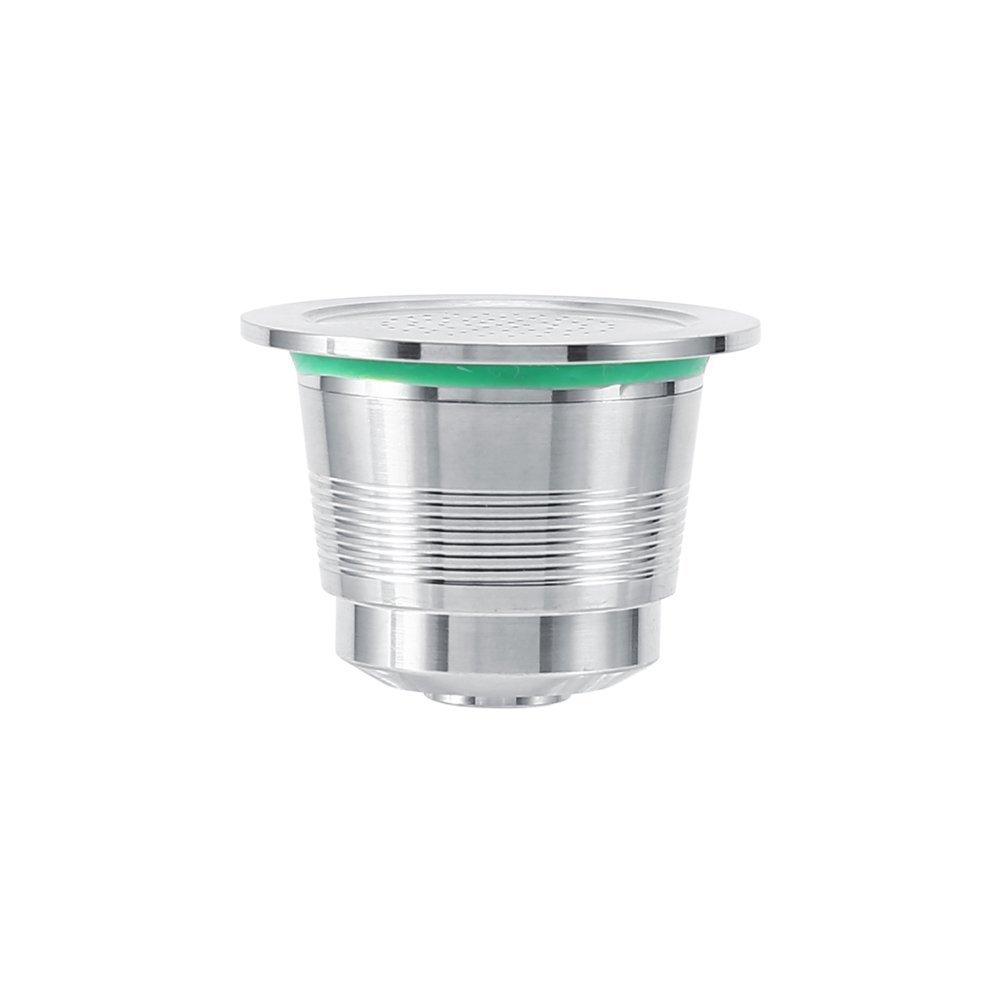 medidas 3,7/x 2,7/cm. C/ápsula para cafetera que necesitan c/ápsulas uso ilimitado C/ápsulas de Caf/é Nespresso C/ápsula rellenable de acero inoxidable