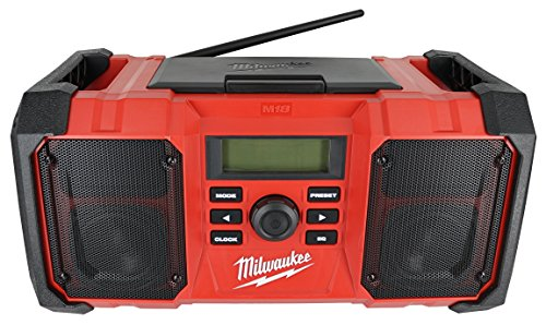 Milwaukee 2890-20 18V Dual Chemistry M18 Jobsite Radio with Shock Absorbing End Caps, USB 2.1A Smartphone Charging, and 3.5mm Aux Jack by Milwaukee (Image #2)