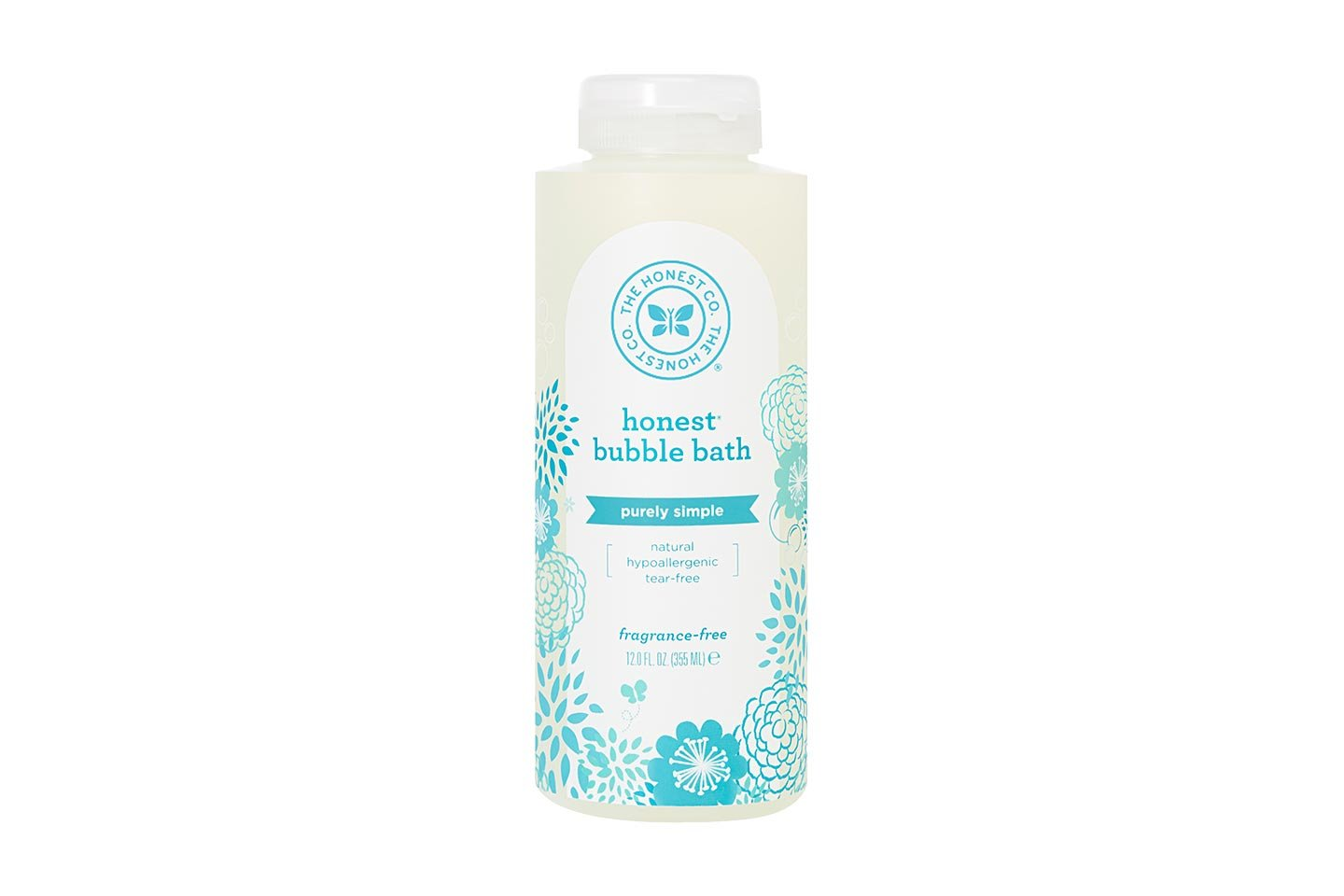 Honest Purely Simple Hypoallergenic Bubble Bath with Naturally Derived Botanicals for Sensitive Skin, Fragrance Free, 12 Fluid Ounce