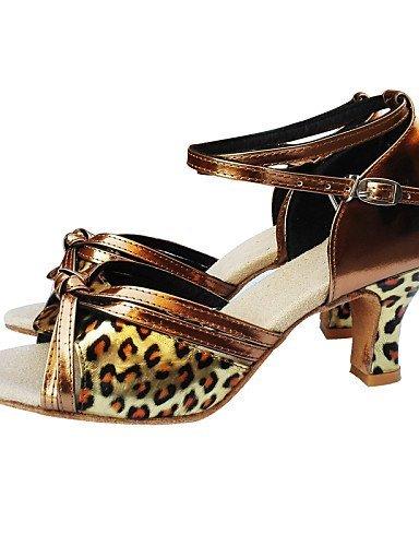 Leopard Talon Moderne Latine Shangyi Ventre De Chaussures Ballet 1xvS4