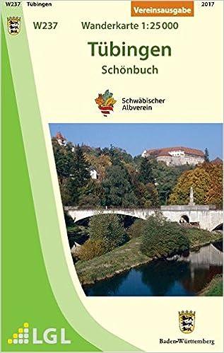 Tübingen Schönbuch Wanderkarte 125000 Karte Des Schwäbischen