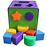 Image of Plastic Square Shape Match Sorting Cube Building Blocks Classic Toys Set for Early Preschool Educational Learning, Christmas Birthday Gift for Toddler Baby Kids Boys and Girls
