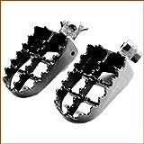 Fat Foot Pegs Black For Honda CR CRF XR 50 70 80 100 150 Kawasaki KLR 650 Race Wide Powersports Foot Pegs - House Deals