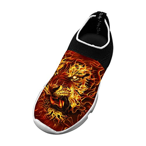 - fire-tiger New Style Fly Knit Shoes Kids Casual Sports Sneakers 4 D(M) US Big kid