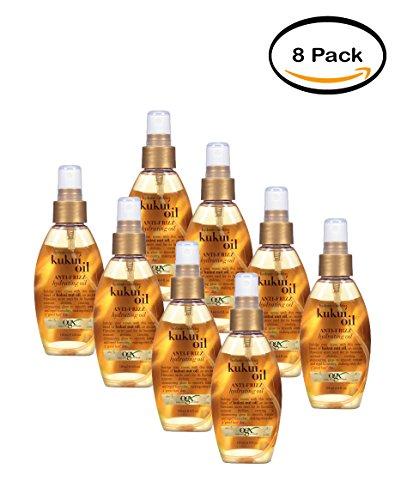 PACK OF 8 - OGX Anti-Frizz Hydrating Oil Kukui Oil, 4.0 FL OZ by OGX