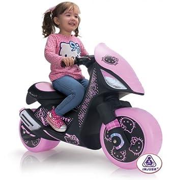 Injusa 6874 Electric Scooter Hello Kitty Dragon 6v Amazon Co Uk