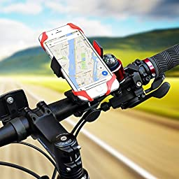 Bike Phone Mount Holder, ISSIKI, Universal Bicycle Handlebar Roll Ball Mount Adjustable Cell Phone Holder Cradle for iPhone 6 6S Plus, Samsung Galaxy.