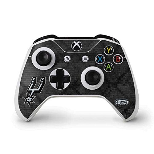 NBA San Antonio Spurs Xbox One S Controller Skin - San Antonio Spurs Dark Rust Vinyl Decal Skin For Your Xbox One S Controller by Skinit