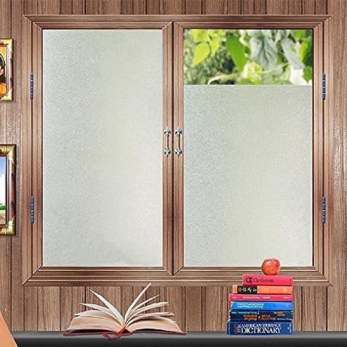 Zindoo Fensterfolie Sichtschutzfolie Haben Kleber Statisch Folie  Milchglasfolie Für Badezimmer, Duschkabine Sowie Türen, Umkleide