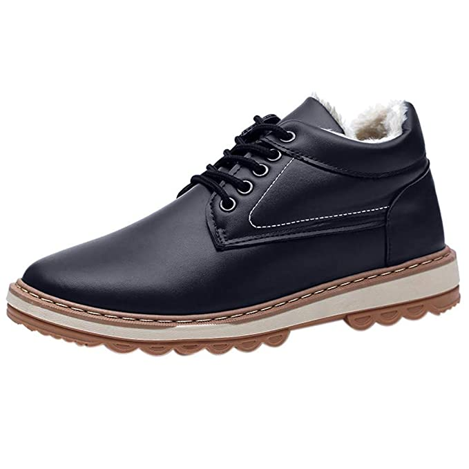 Hombre Botines Zapatos Botas De Nieve Invierno Cortas Fur Aire Libre Boots ZARLLE Otoño E Invierno