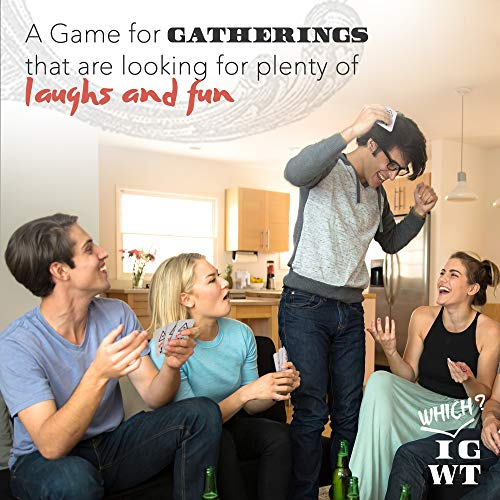 Adult Party Game - Conversation Starter, Entertainment for Family & Friends, New Voting Cards, Gatherings Relationships Builder- Fun Group Cards for Bachelorette Party, Adults Gift