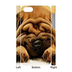 3D Bumper Plastic Case Of Cute Dog customized case For Iphone 4/4s