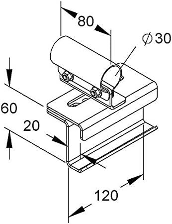 Niedax Rail Connector Holder Mihk 30 E3 Pipe Clamp Amazon Co Uk