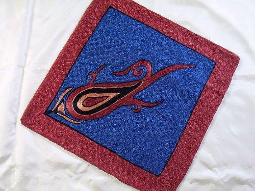 (Kashmir Suzani Needlework Embroidered Pillowcase - Blue Decorative Throw Pillow Cushion Cover - 16 Inch)