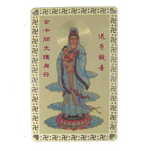 Fertility kuan yin talisman card feng shui store fertility kuan yin talisman card altavistaventures Choice Image