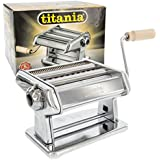 Imperia Pasta Maker Machine (190) By Cucina Pro - Heavy Duty Steel Construction with Easy Lock Dial and Wood Grip Handle
