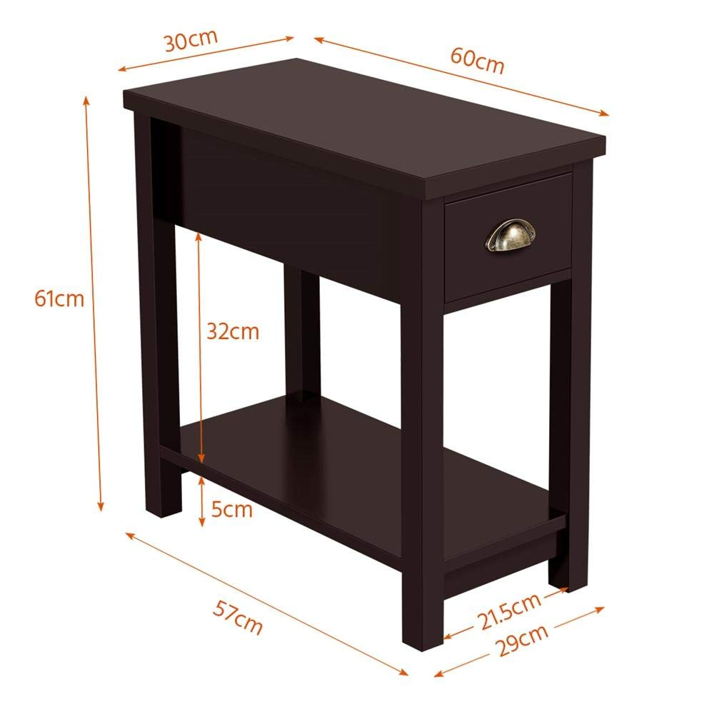 Outstanding Yaheetech Narrow Slim End Tables With Drawers Shelf Sofa Alphanode Cool Chair Designs And Ideas Alphanodeonline