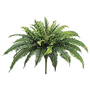 "Artificial Boston Fern Bush - 23"" Tall 75"