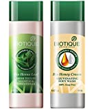 Biotique Bio Heena Leaf Fresh Texture Shampoo & Conditioner With Color For Dark Hair, 120Ml With Bio Honey Cream Rejuvenating Body Wash, 190ml Combo