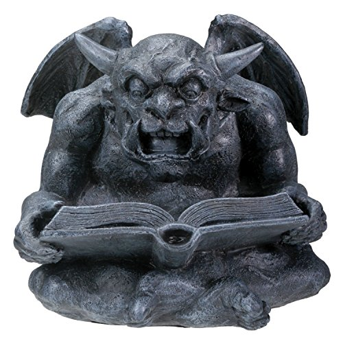 - Summit Collection Reading Gargoyle - Collectible Figurine Statue Sculpture Figure Model, Grey