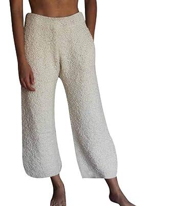 Hibasing Pantalones de chándal de Piel sintética de Invierno para ...