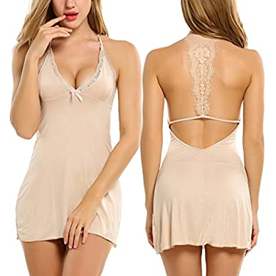 Avidlove Sleepwear Womens Chemise Sexy Nightie Full Slip Lace Babydoll Dress